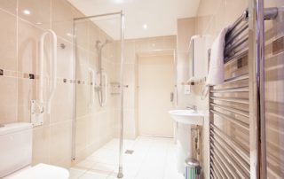Battenburg Studio Apartment Bathroom, Shanklin Villa Luxury Self Catering Holiday Apartments, Isle of Wight