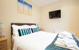 Battenburg Studio Apartment Bedroom, Shanklin Villa Luxury Self Catering Holiday Apartments, Isle of Wight