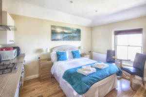 Beatrice_Studio_Apartment Bed, Shanklin Villa, Isle of Wight