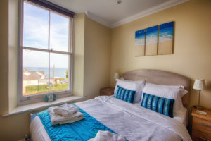 Cromwell_Double_Bedroom. Shanklin Villa Luxury Self Catering Holiday Apartments, Isle of Wight