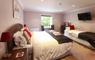 Cromwell_Master_bedroom. Shanklin Villa Luxury Self Catering Holiday Apartments, Isle of Wight