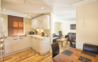 Eversley_Kitchen_Dining-Lounge. Shanklin Villa Luxury Self Catering Holiday Apartments, Isle of Wight