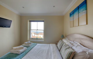 Montagu_Double_bedroom.Shanklin Villa Luxury Self Catering Holiday Apartments, Isle of Wight
