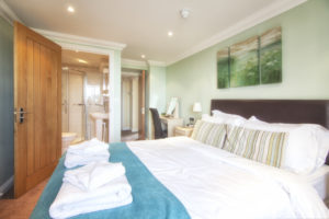 Mountabtten_Garden_Apartment_Double_EnSuite_Bedroom Shanklin Villa Luxury Self Catering Holiday Apartments, Isle of Wight.