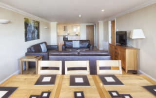 Mountbatten_Lounge_Dining. Shanklin Villa Luxury Self Catering Holiday Apartments, Isle of Wight.