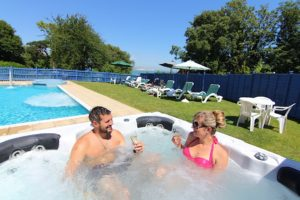 Outdoor Hot Tub & Pool with Jets, Luccombe Hotels, Shanklin Villa, Isle of Wight